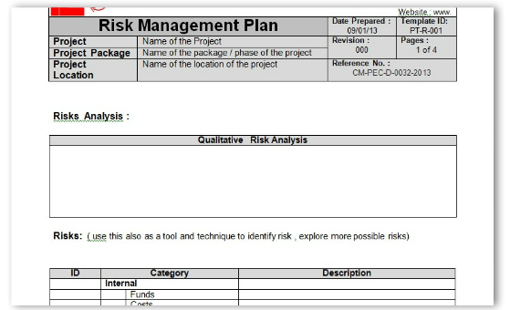 Doc1113698 Risk Management Template Free Risk Management Form – Risk Management Template Free