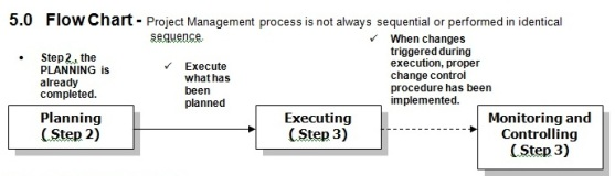 project execution flow chart