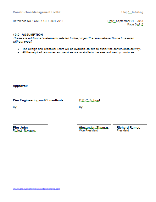 project charter page 5